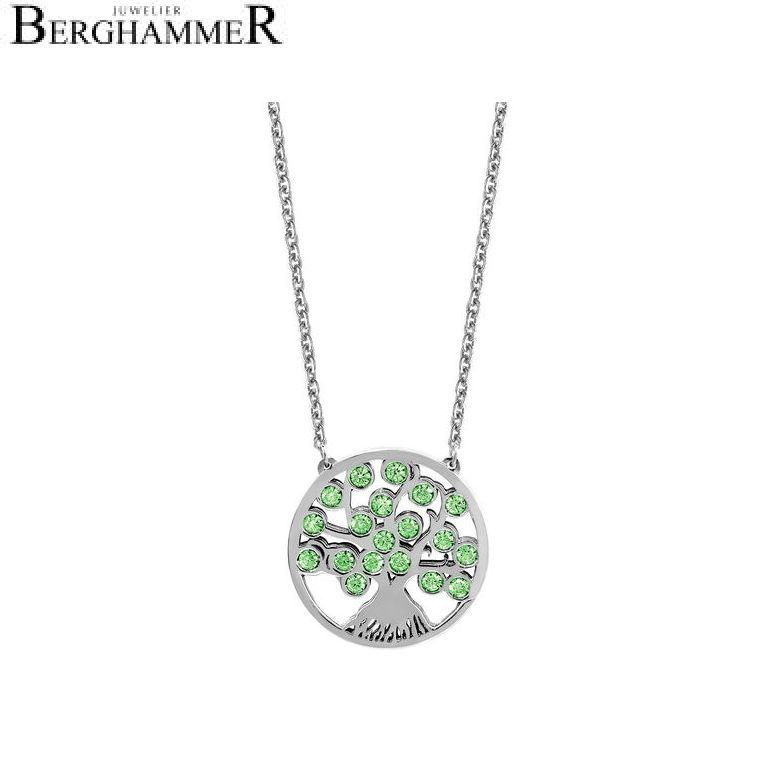 LaViida Halskette Lebensbaum mit grünen Zirkonia NAB903RH