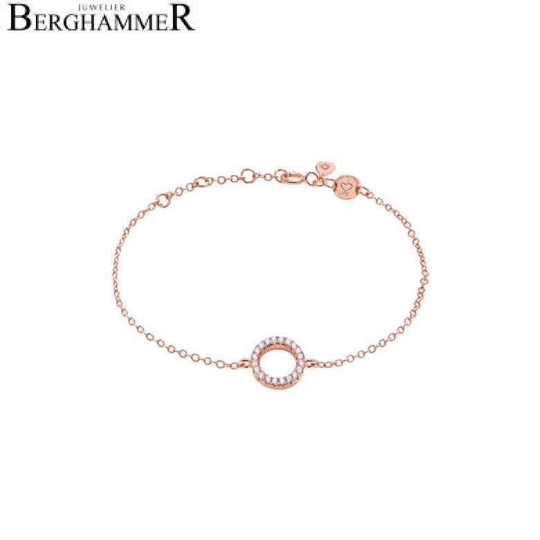 LaViida Armband Kreis 925 Silber roségold vergoldet BLU601RG 40400002