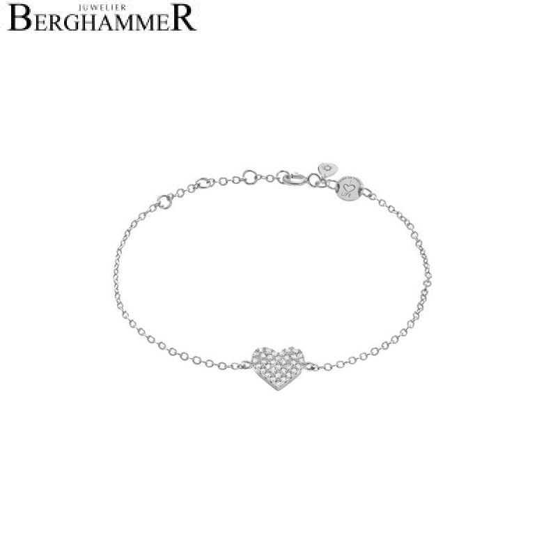LaViida Armband Herz pavé 925 Silber rhodiniert BLU602RH