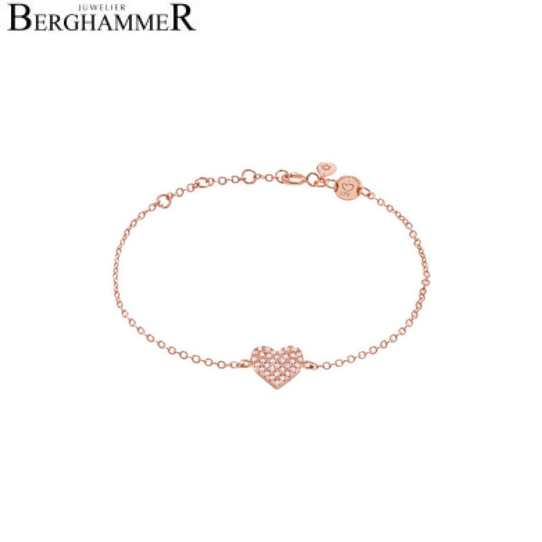 LaViida Armband Herz pavé 925 Silber roségold vergoldet BLU602RG