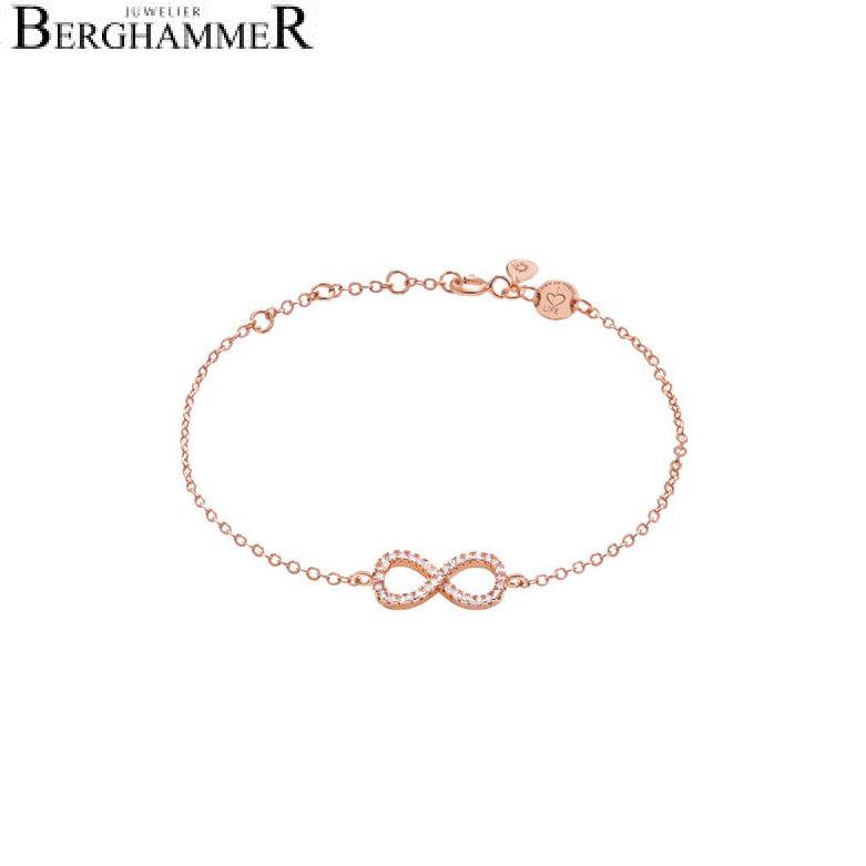 LaViida Armband Infinity 925 Silber roségold vergoldet BLU603RG