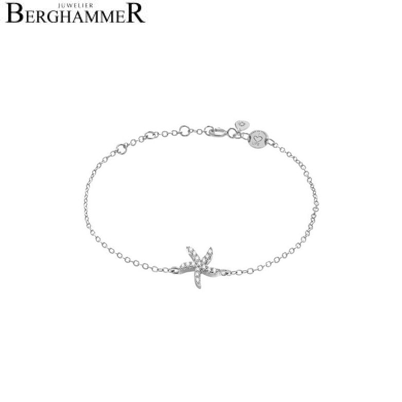LaViida Armband Seestern 925 Silber rhodiniert BLU604RH