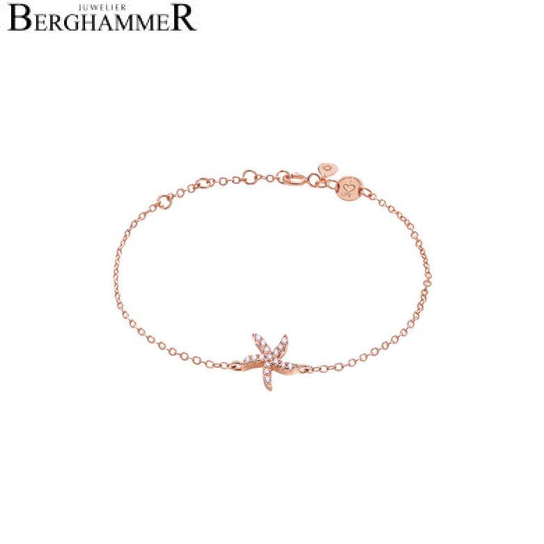 LaViida Armband Seestern 925 Silber roségold vergoldet BLU604RG