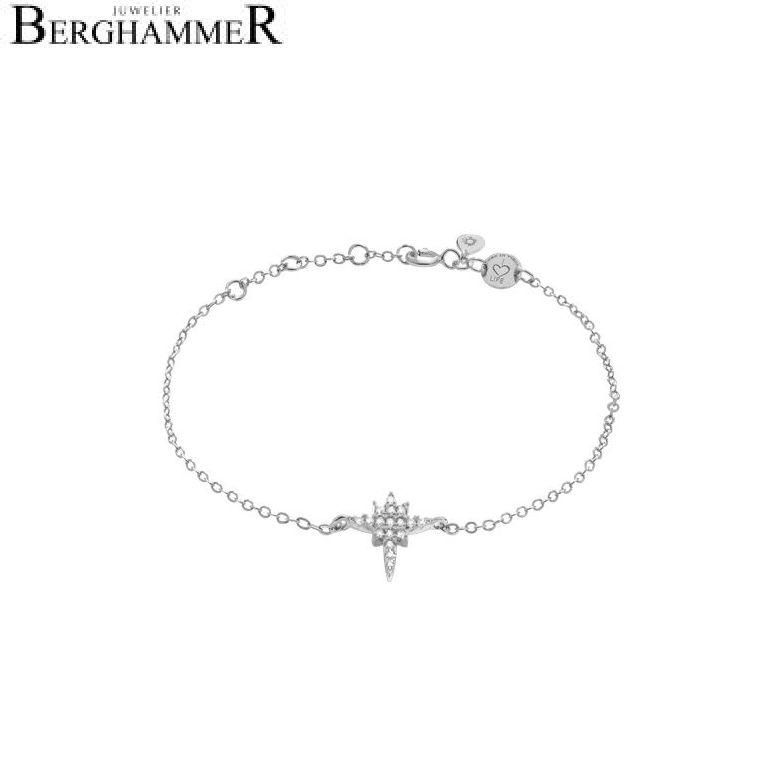 LaViida Armband Polarstern 925 Silber rhodiniert BLU605RH