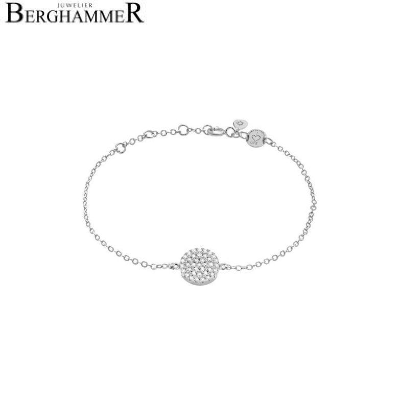 LaViida Armband Kreis pavé 925 Silber rhodiniert BLU606RH
