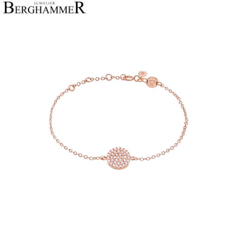 LaViida Armband Kreis pavé 925 Silber roségold vergoldet BLU606RG