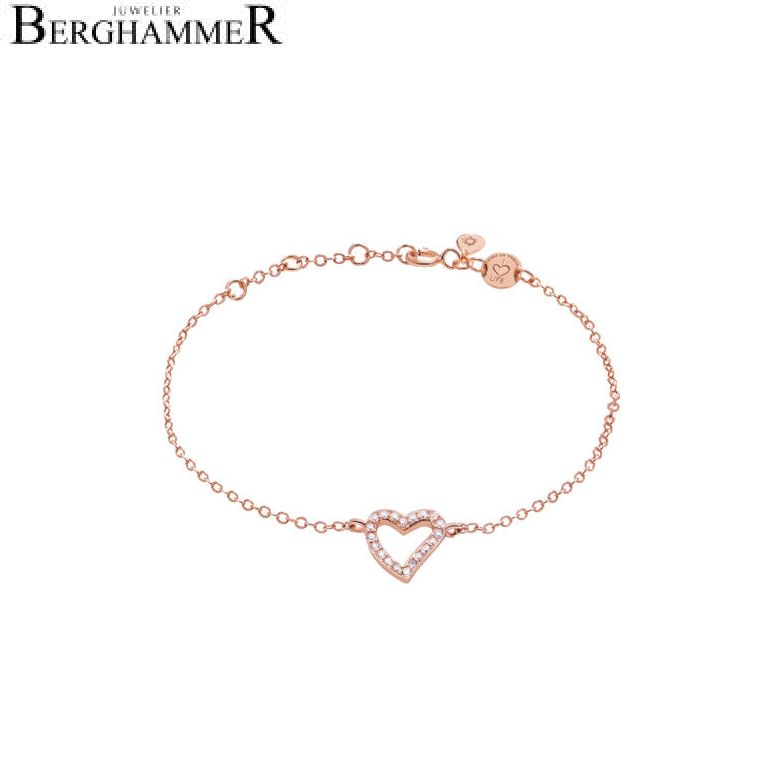 LaViida Armband Herz 925 Silber roségold vergoldet BLU607RG