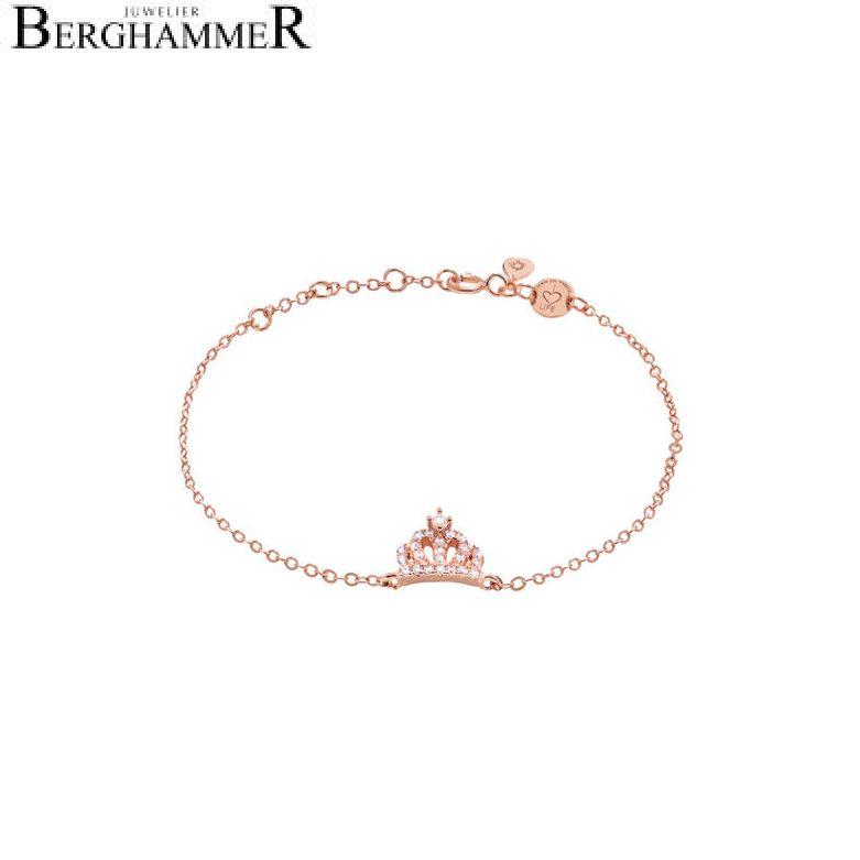LaViida Armband Krone 925 Silber rhodiniert BLU608RH