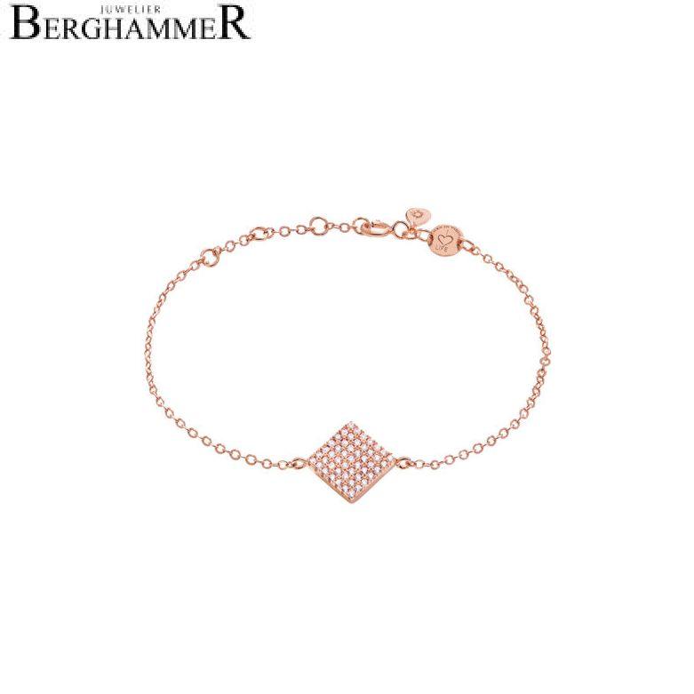 LaViida Armband Quadrat pavé 925 Silber roségold vergoldet BLU609RG