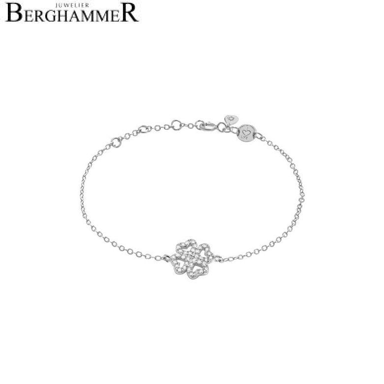 LaViida Armband Kleeblatt 925 Silber rhodiniert BLU610RH