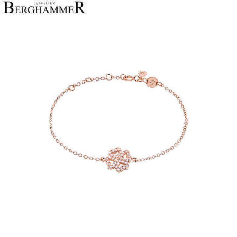 LaViida Armband Kleeblatt 925 Silber roségold vergoldet BLU610RG