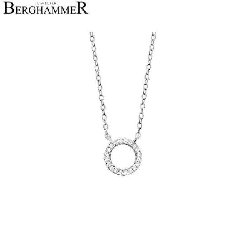 LaViida Halskette Kreis 925 Silber rhodiniert NLU601RH 40400023