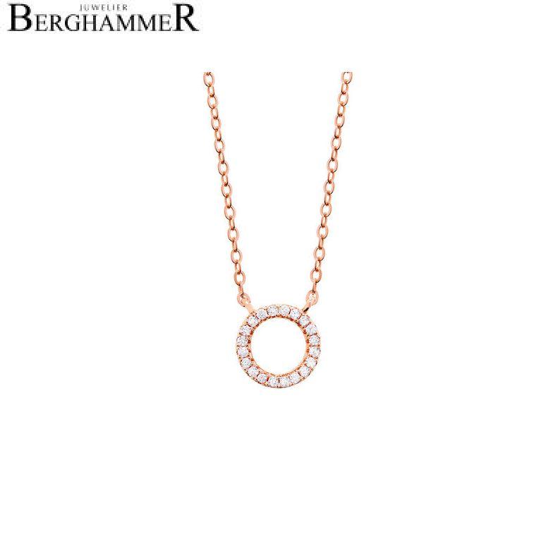 LaViida Halskette Kreis 925 Silber roségold vergoldet NLU601RG