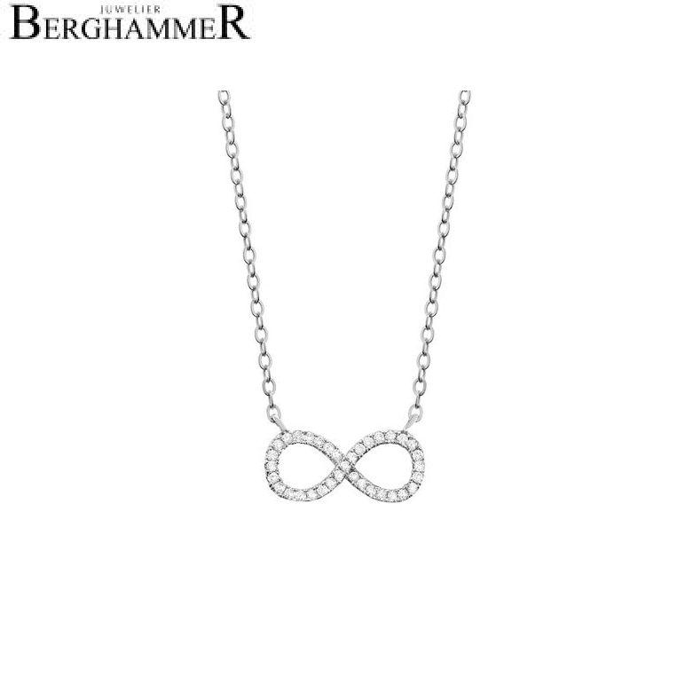 LaViida Halskette Infinity 925 Silber rhodiniert NLU603RH