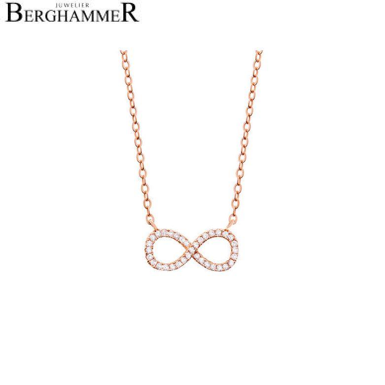 LaViida Halskette Infinity 925 Silber roségold vergoldet NLU603RG 40400028