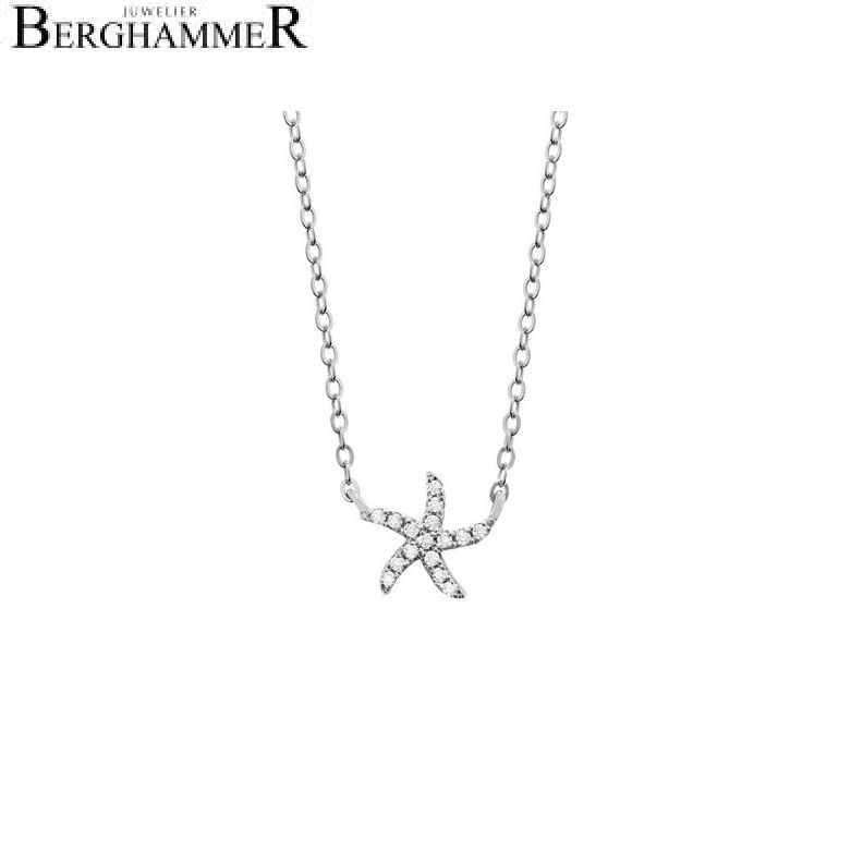 LaViida Halskette Seestern 925 Silber rhodiniert NLU604RH