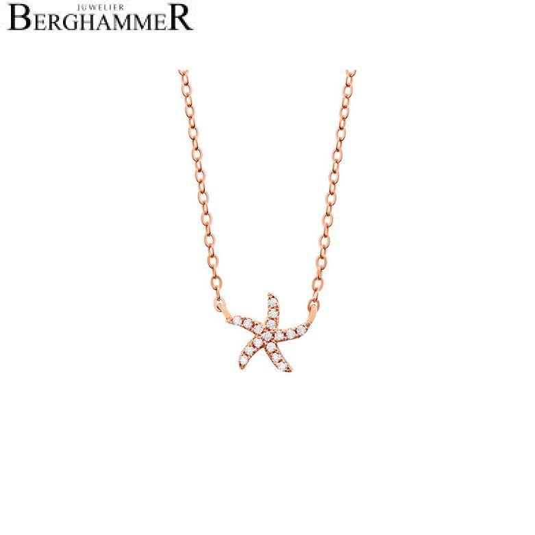 LaViida Halskette Seestern 925 Silber roségold vergoldet NLU604RG