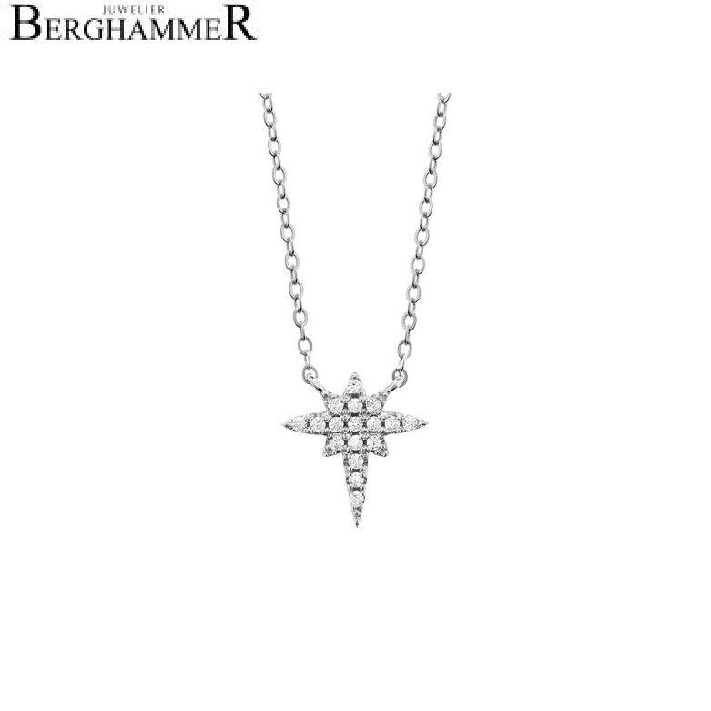 LaViida Halskette Polarstern 925 Silber rhodiniert NLU605RH