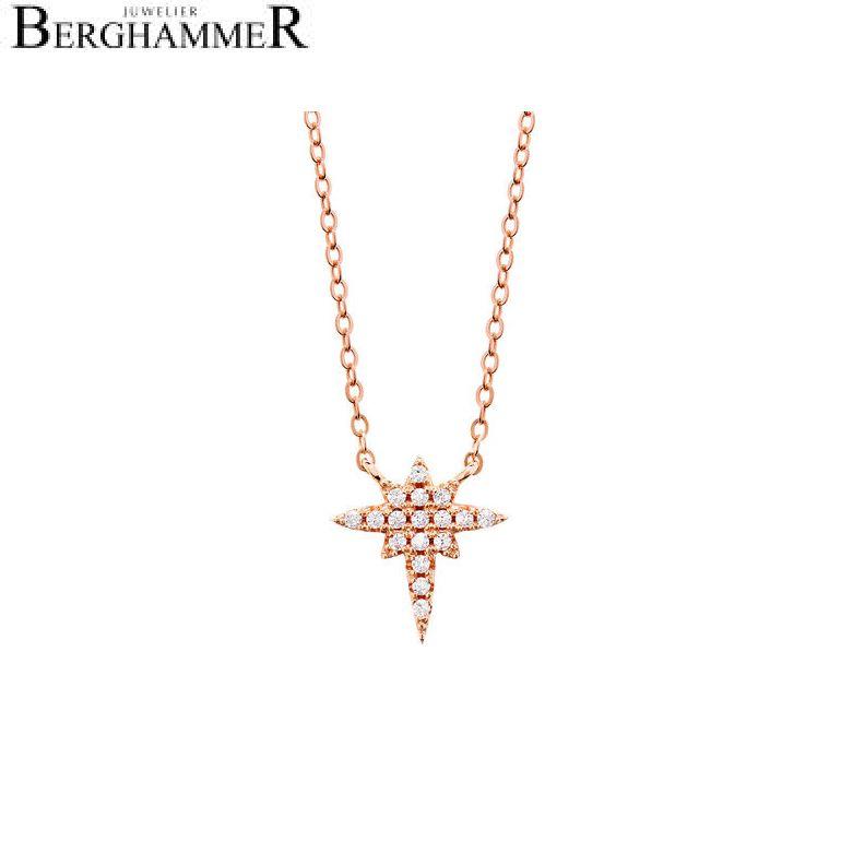 LaViida Halskette Polarstern 925 Silber roségold vergoldet NLU605RG