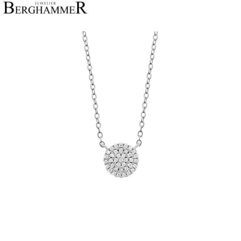 LaViida Halskette Kreis pavé 925 Silber rhodiniert NLU606RH