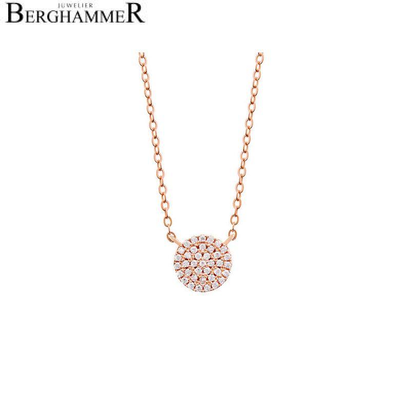 LaViida Halskette Kreis pavé 925 Silber roségold vergoldet NLU606RG
