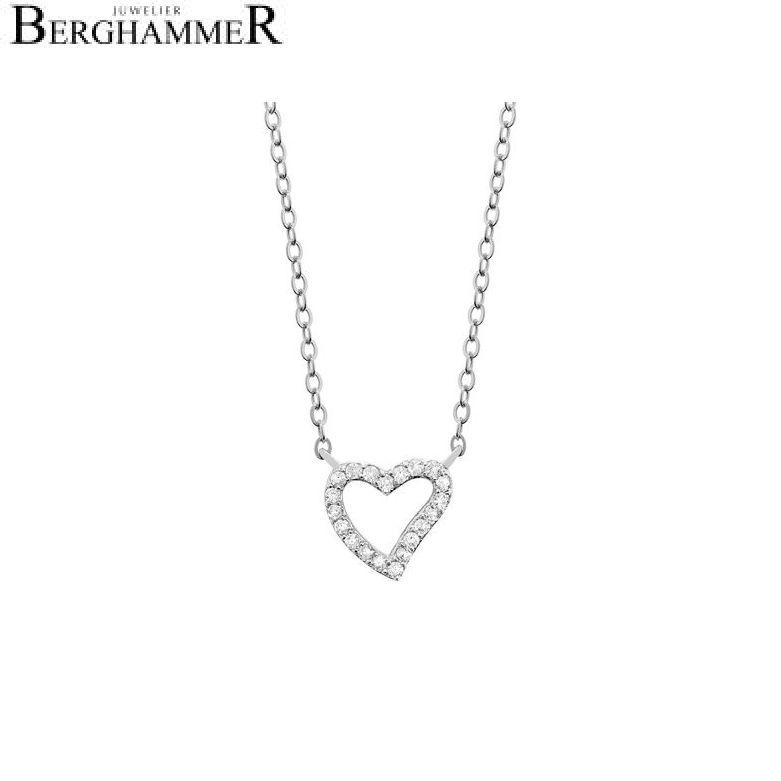 LaViida Halskette Herz 925 Silber rhodiniert NLU607RH
