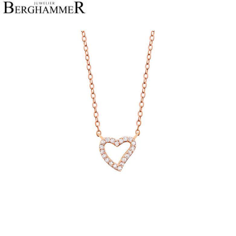 LaViida Halskette Herz 925 Silber roségold vergoldet NLU607RG