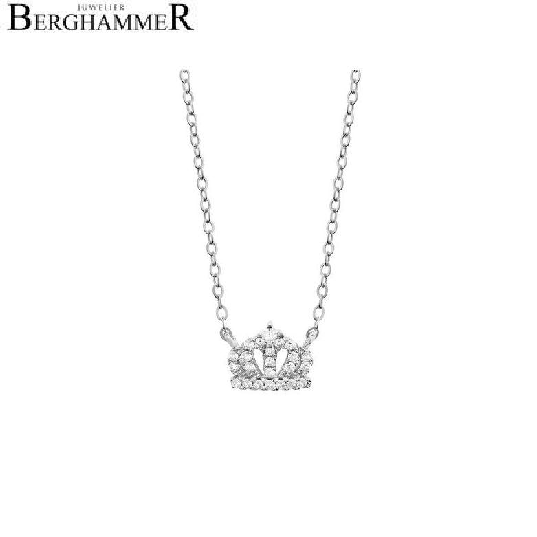 LaViida Halskette Krone 925 Silber rhodiniert NLU608RH