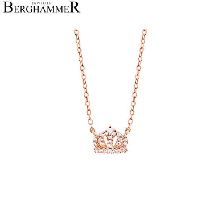 LaViida Halskette Krone 925 Silber roségold vergoldet NLU608RG