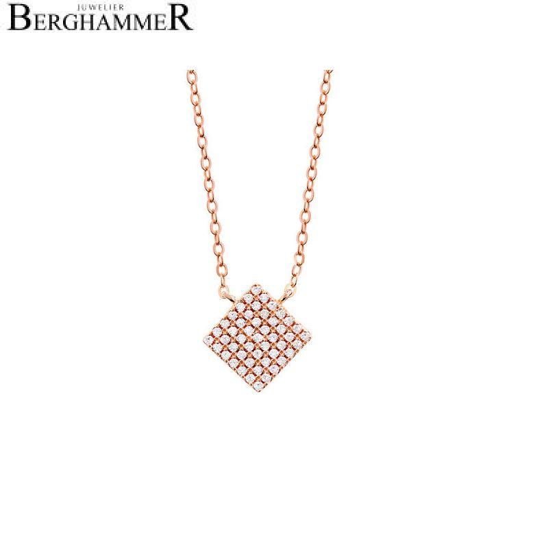 LaViida Halskette Quadrat pavé 925 Silber roségold vergoldet NLU609RG