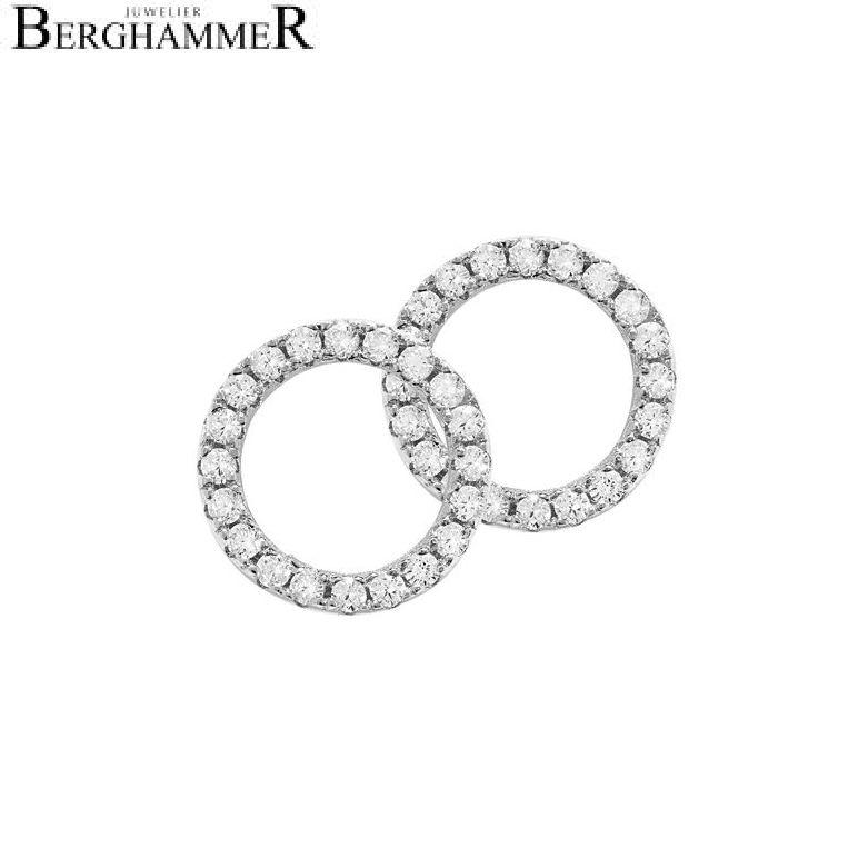 LaViida Ohrschmuck Kreis 925 Silber rhodiniert ELU601RH