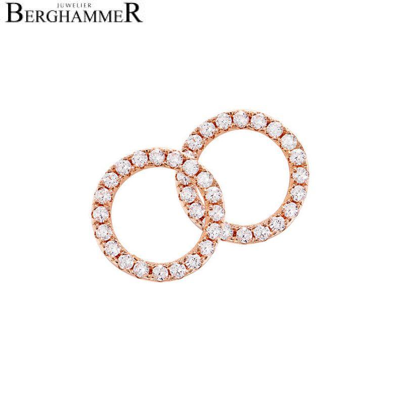 LaViida Ohrschmuck Kreis 925 Silber roségold vergoldet ELU601RG