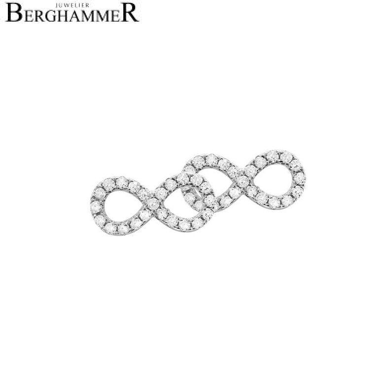 LaViida Ohrschmuck Infinity 925 Silber rhodiniert ELU603RH