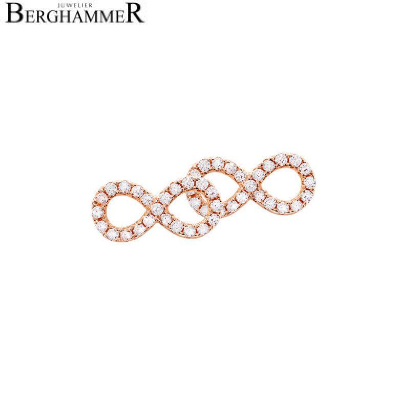 LaViida Ohrschmuck Infinity 925 Silber roségold vergoldet ELU603RG