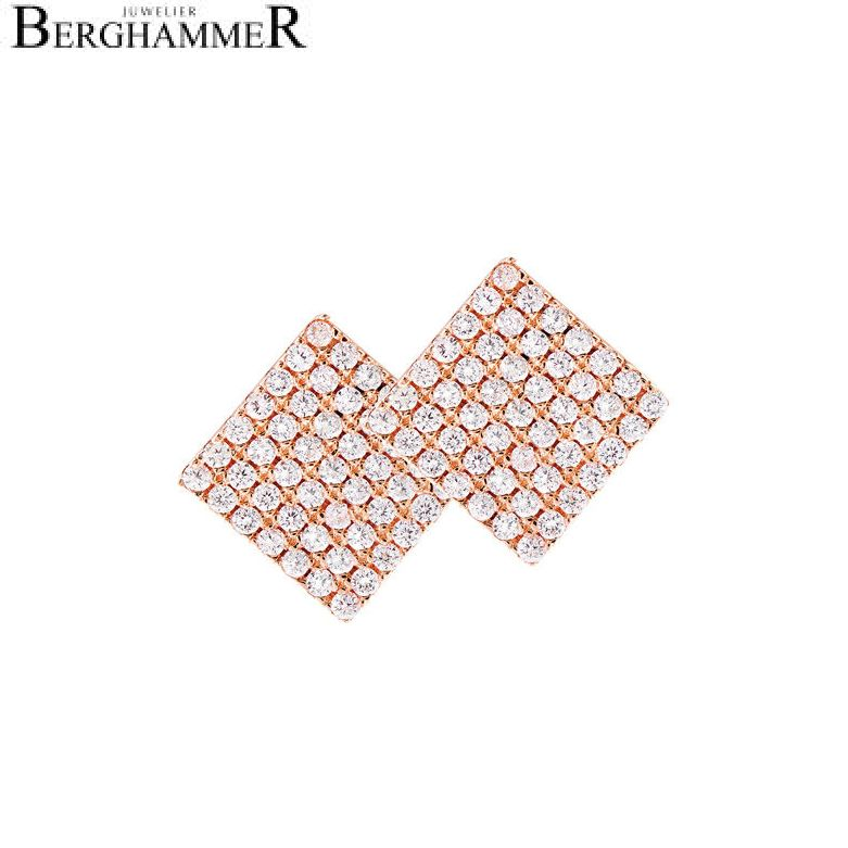 LaViida Ohrschmuck Quadrat pavé 925 Silber roségold vergoldet ELU609RG