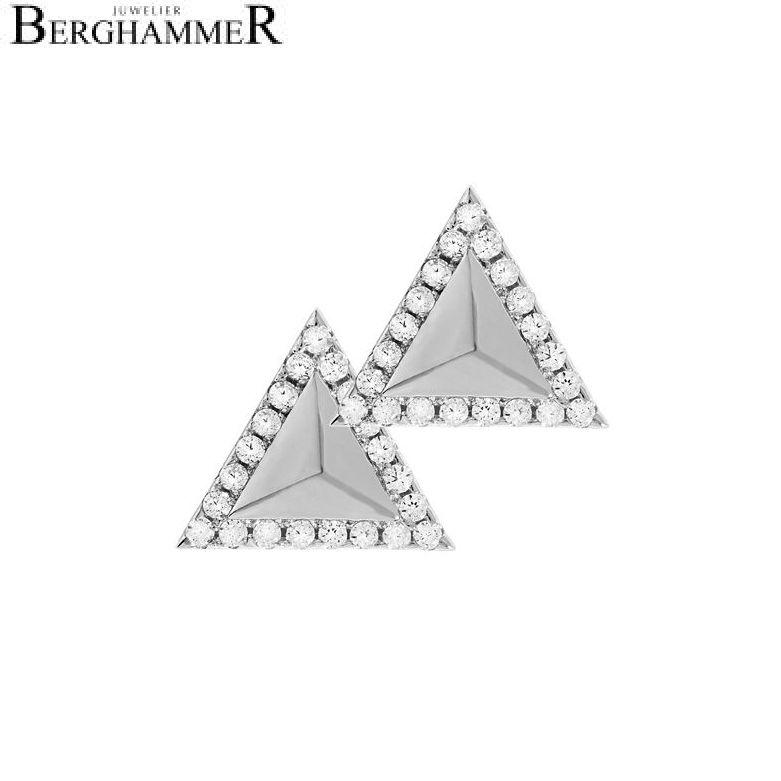 LaViida Ohrschmuck Dreieck 925 Silber rhodiniert ELU614RH 40400071