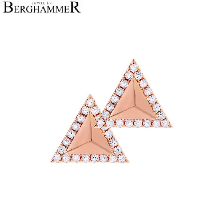 LaViida Ohrschmuck Dreieck 925 Silber roségold vergoldet ELU614RG
