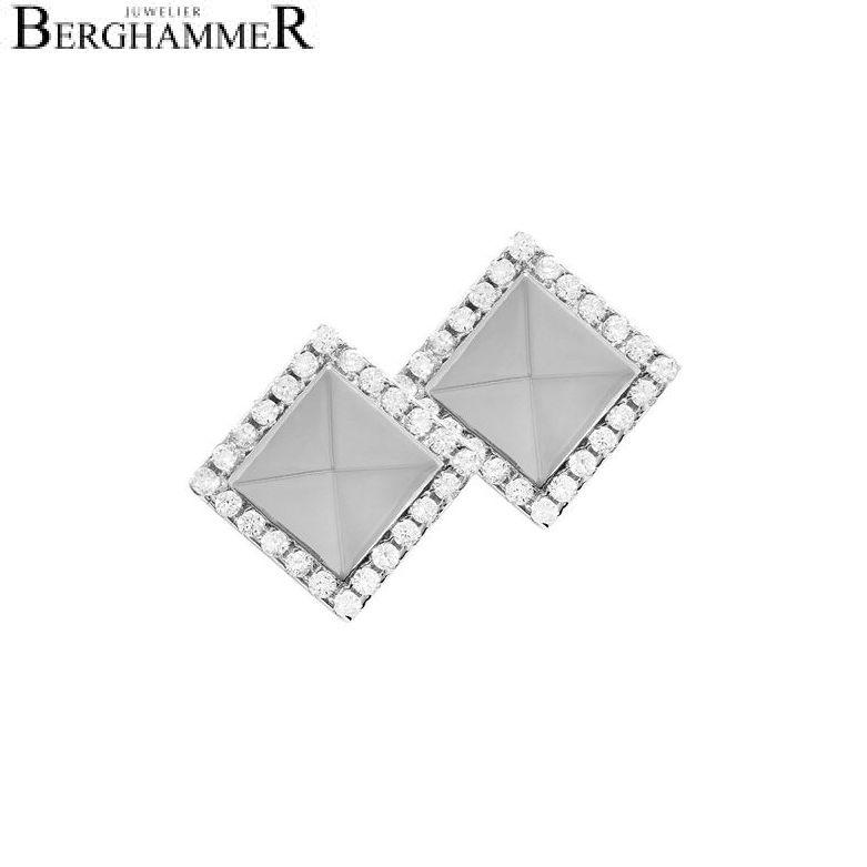 LaViida Ohrschmuck Quadrat 925 Silber rhodiniert ELU615RH 40400073