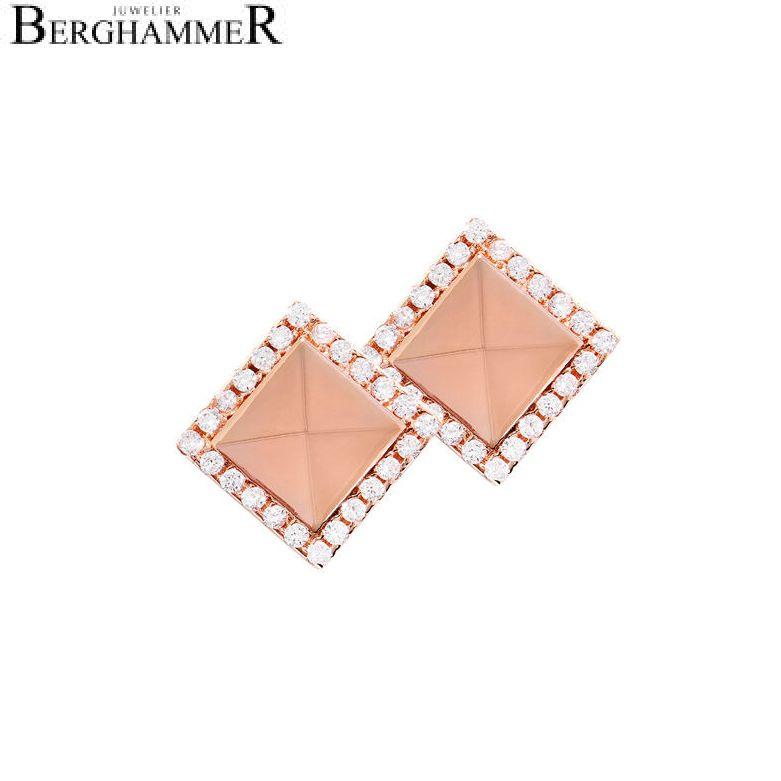 LaViida Ohrschmuck Quadrat 925 Silber roségold vergoldet ELU615RG