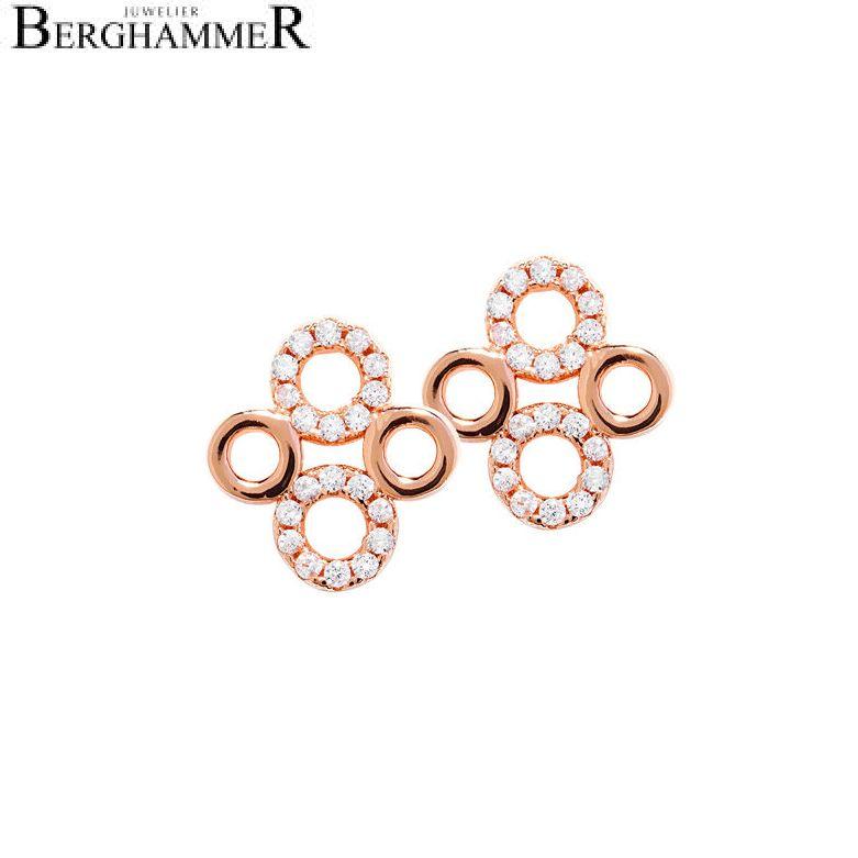 LaViida Ohrschmuck Filigran 925 Silber roségold vergoldet ELU618RG 40400080