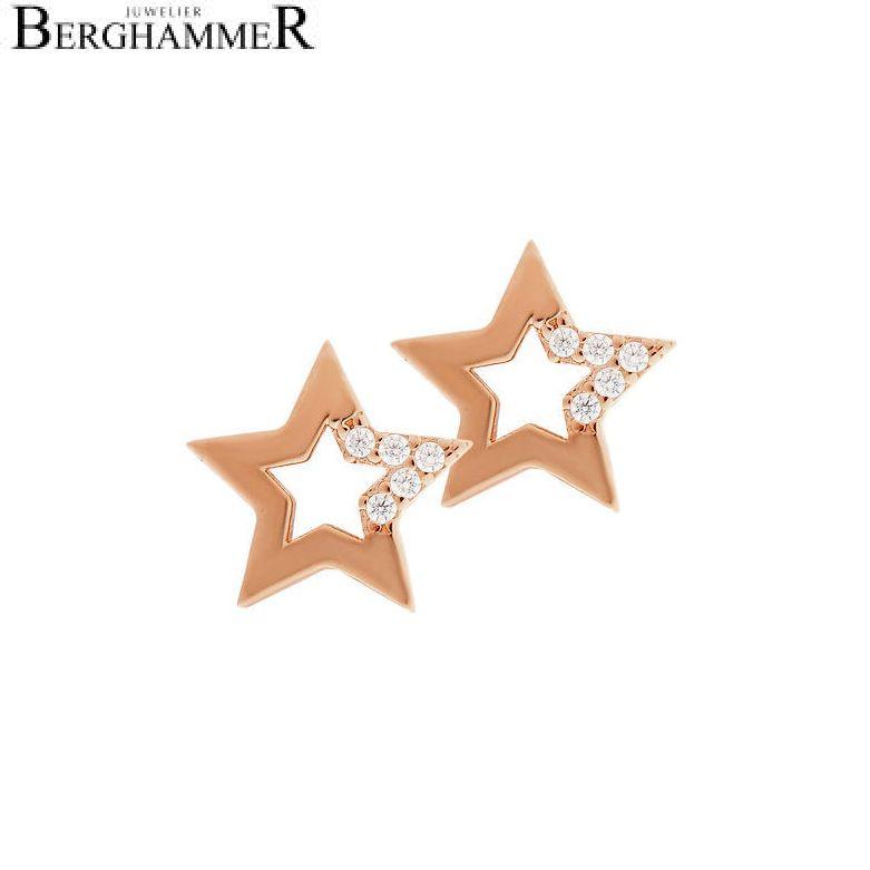 LaViida Ohrschmuck Stern 925 Silber roségold vergoldet ELU620RG 40500004