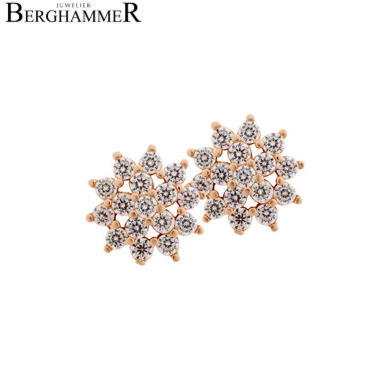 LaViida Ohrschmuck Blume 925 Silber roségold vergoldet ELU622RG