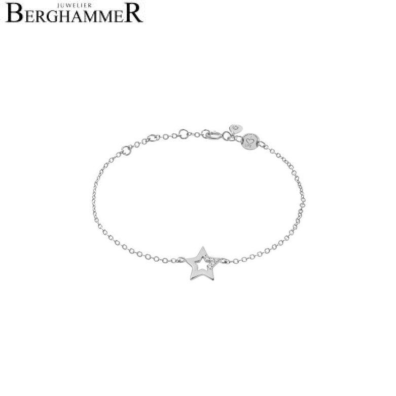 LaViida Armband Stern 925 Silber rhodiniert BLU620RH 40500015