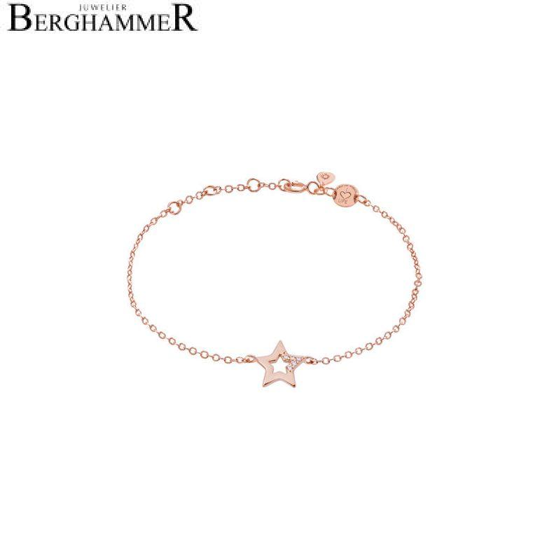 LaViida Armband Stern 925 Silber roségold vergoldet BLU620RG 40500016
