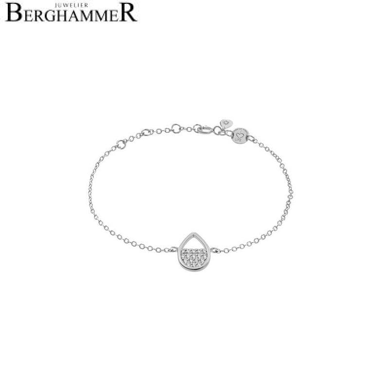 LaViida Armband Tropfen 925 Silber rhodiniert BLU621RH 40500017