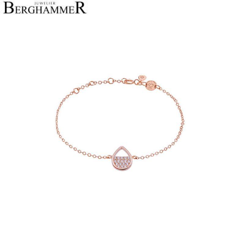 LaViida Armband Tropfen 925 Silber roségold vergoldet BLU621RG 40500018