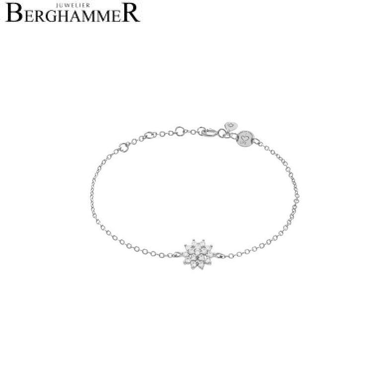 LaViida Armband Blume 925 Silber rhodiniert BLU622RH 40500019