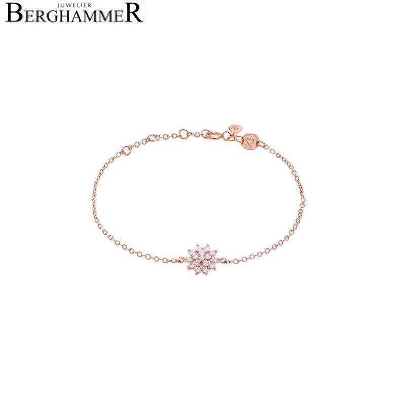 LaViida Armband Blume 925 Silber roségold vergoldet BLU622RG