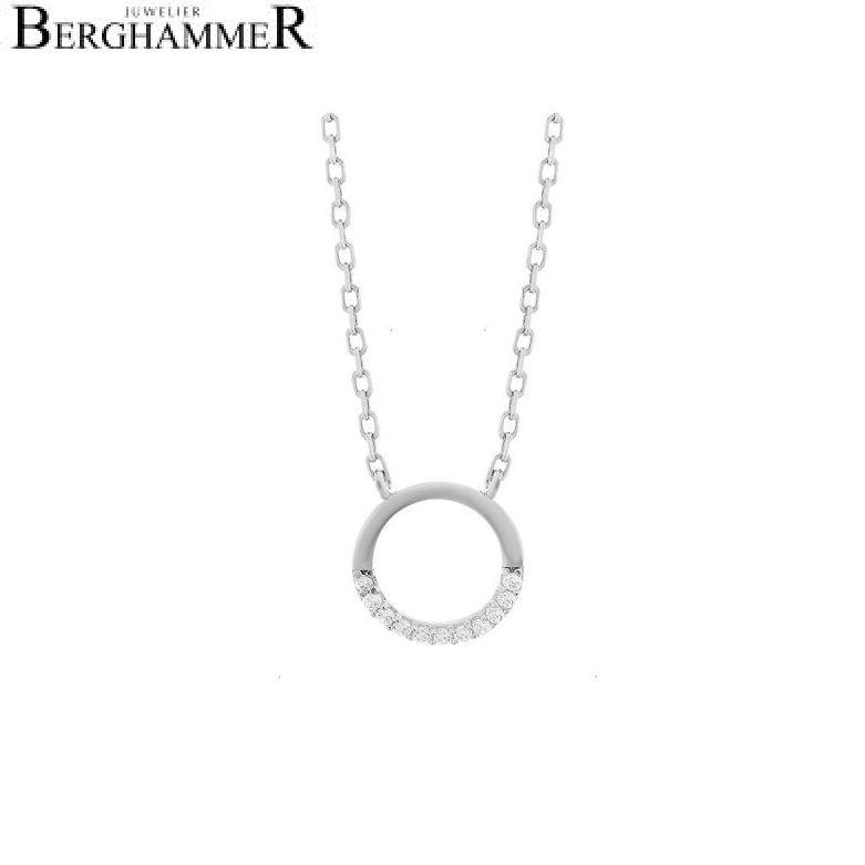 LaViida Halskette Kreis 925 Silber rhodiniert NLU619RH