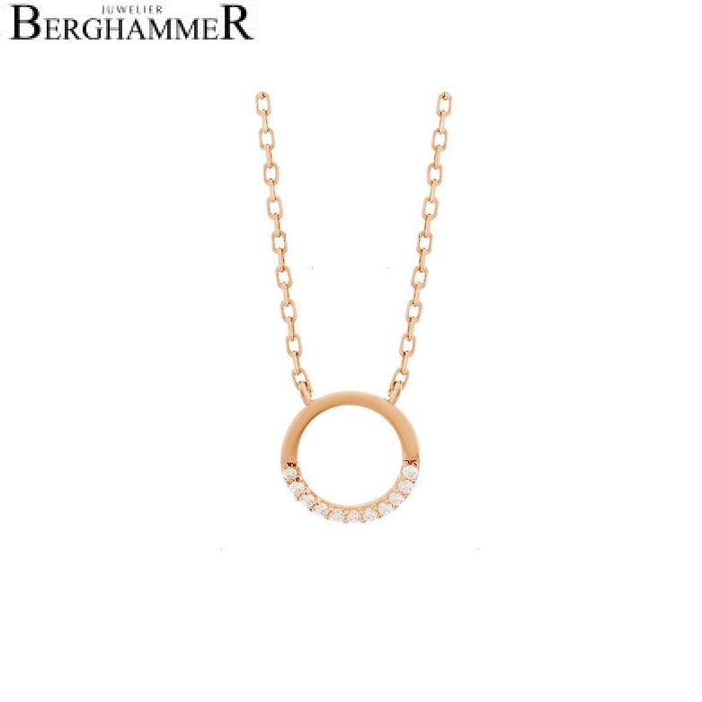 LaViida Halskette Kreis 925 Silber roségold vergoldet NLU619RG